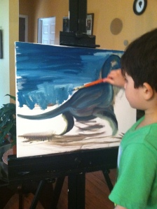 Young artist at work!